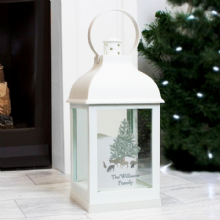 Personalised A Winter's Night White Lantern P1007C10